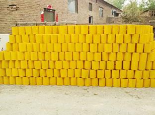 喷塑防阻块(黄色)